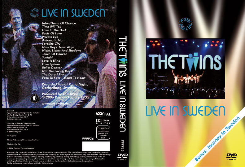 The Twins - live in Sweden DVD RARE